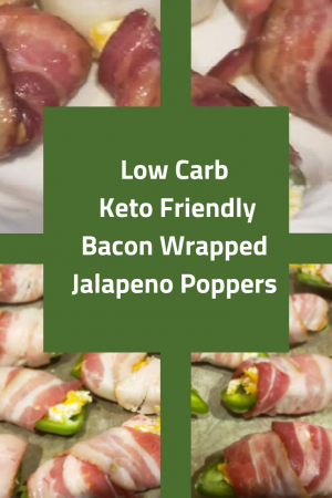 Low Carb Keto Friendly Bacon Wrapped Jalapeno Poppers