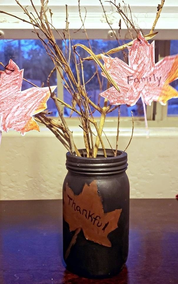 Kid Friendly Craft Thankful Tree in a Jar