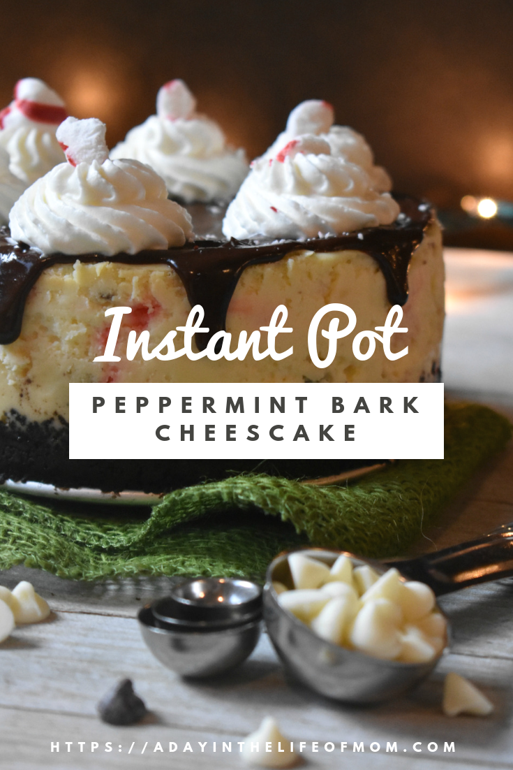 Instant Pot Peppermint Bark Cheesecake Recipe