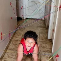 "Indoor Fun For Kids : Create Your Own ""laser"" Maze"