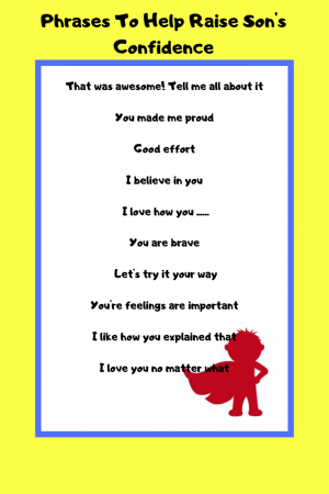 Help your Son Gain Confidence and 25 Phrases That Will Work