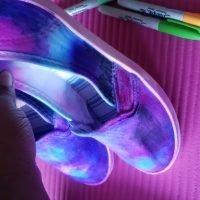 DIY Galaxy Sharpie Glitter Shoes