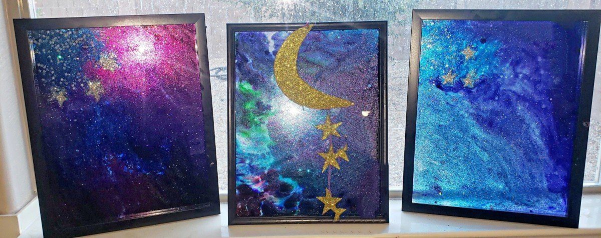 Kids Star Craft: Create Your Own Stained Glass Starry Night Light