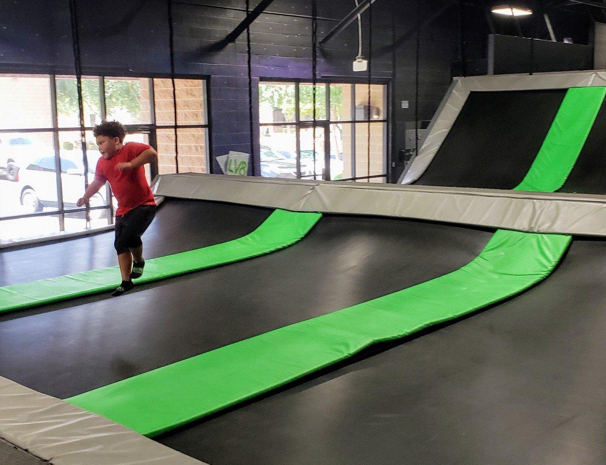 toddler area elevate trampoline park